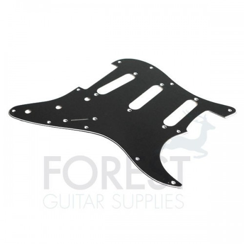 Fender Stratocaster style pickguard, Black 3 Ply (B/W/B) S/S/S
