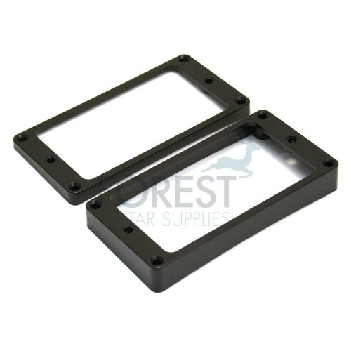 Pickup mounting ring curved bottom frame, black set of 2 neck and bridge for Gibson Les Paul ®