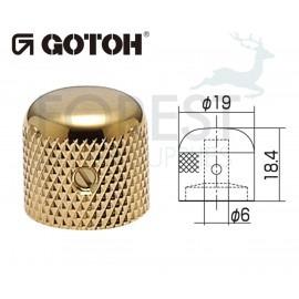Gotoh VK1-19 dome metal Knob gold 19mm