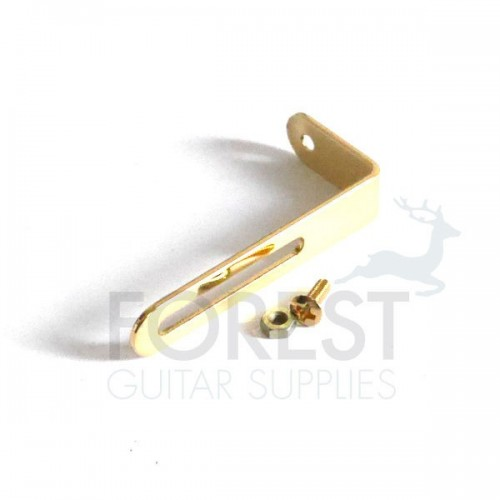 Gibson ® style pickguard mounting bracket, gold
