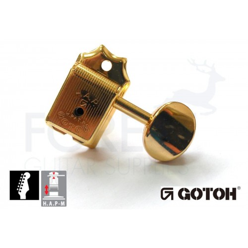 GOTOH SD91-05M 6L HAPM guitar machine heads, Gold vintage style, Magnum lock