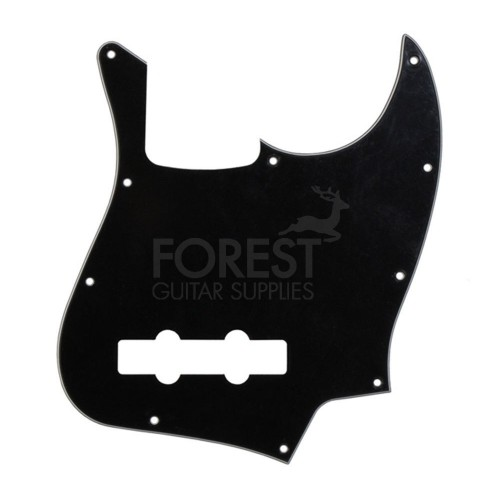 Fender Jazz Bass aftermarket pickguard, Black 3 Ply (B/W/B)