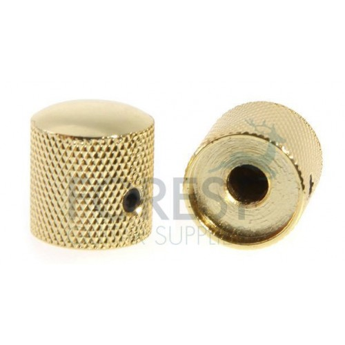 Dome metal Knob for split shaft gold 18mm
