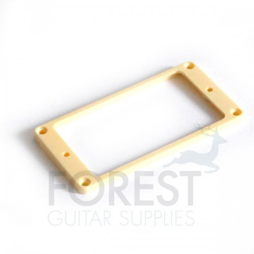 Gibson ® aftermarket pickup mounting ring, frame, neck position, Cream, flat bottom