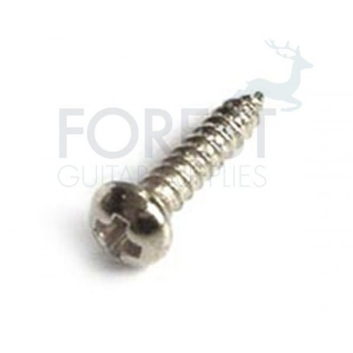 Tuner screw round head chrome 2x12mm, unit