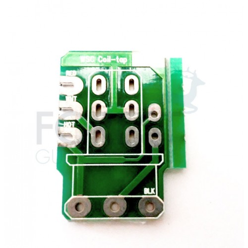 PCB circuit board for Push/pull guitar potentiometer, Coil tap