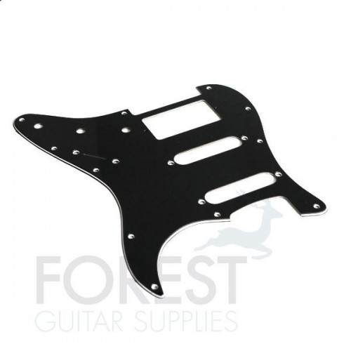 Fender Stratocaster aftermarket pickguard, Black 3 Ply (B/W/B) S/S/H