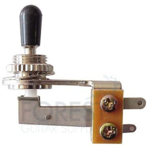 3 Way Toggle Switch angled Gibson® style, chrome