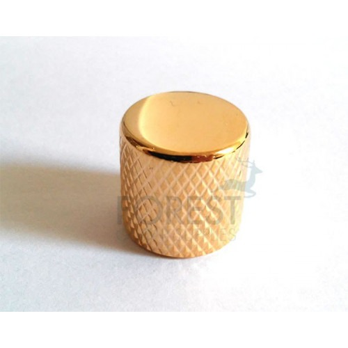 Fender Telecaster ® style Knurled Push-On metal Knob Gold