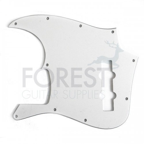 Fender® Jazz Bass® style Pickguard, White 3 Ply (W/B/W)