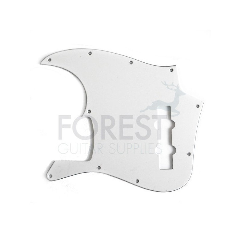 jazz bass pickguard template - fender jazz bass aftermarket pickguard white 3 ply w b w