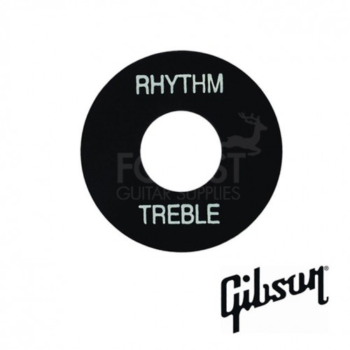 Genuine Gibson ® toggle switch washer, black / white letters