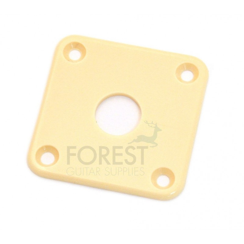 Gibson® style Jack plate square cream ABS plastic  sc 1 st  ForestGuitarSupplies & Gibson aftermarket Jack plate square cream ABS plastic