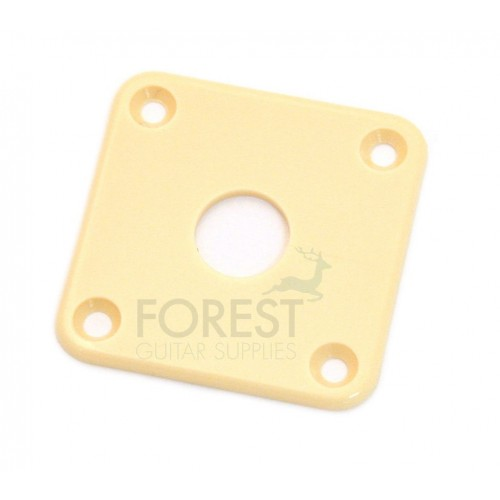 Gibson style Jack plate square cream ABS plastic